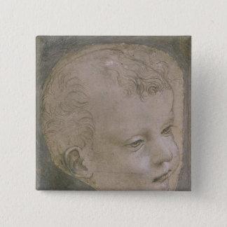Huvud av ett barn standard kanpp fyrkantig 5.1 cm
