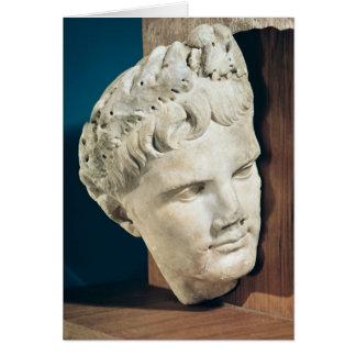 Huvud av kejsaren Augustus 27-17 BC Hälsningskort
