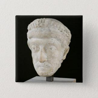 Huvud av kejsaren Theodosius II Standard Kanpp Fyrkantig 5.1 Cm