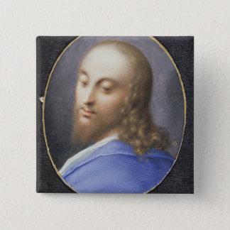 Huvud av Kristus, miniatyr Standard Kanpp Fyrkantig 5.1 Cm