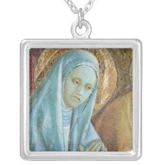 Huvud av Sanktt Anne från presentationen av Silverpläterat Halsband