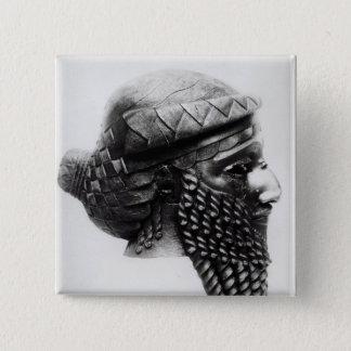 Huvud av Sargon mig 2400-2200 BC Standard Kanpp Fyrkantig 5.1 Cm