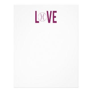 Huvud för kärlekbaseballbrev brevhuvud
