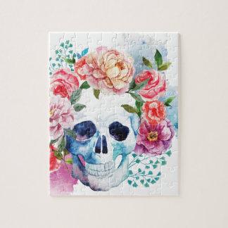 Huvud för skelett för skalle för Wellcoda blomma Pussel