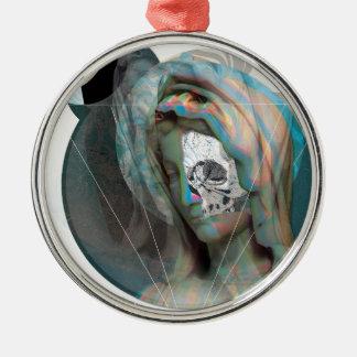 Huvud för Wellcoda jungfruligt Mary skulpturheliga Julgransprydnad Metall
