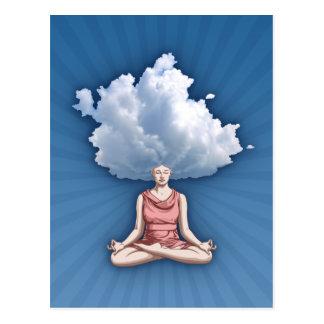 Huvud i molnen vykort