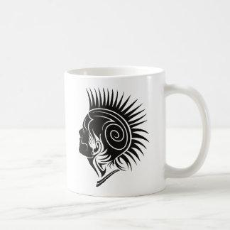 Huvud med Mohawk Kaffemugg