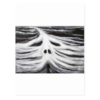 Huvudet av leviathanen (svartvit surrealism) vykort