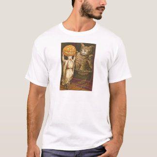 Huvudlös uggla Pumpkinhead för manjackO lykta Tee Shirt