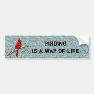 Huvudsaklig fågelcollage för jul bildekal