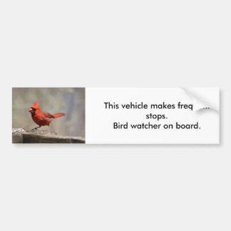 Huvudsaklig fågeliakttagarebildekal bildekal