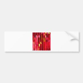 Huvudsaklig röd abstrakt låg polygonbakgrund bildekal