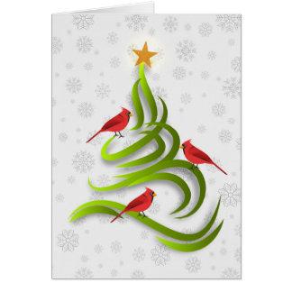 Huvudsakligt kort för julgranjulSnowflake