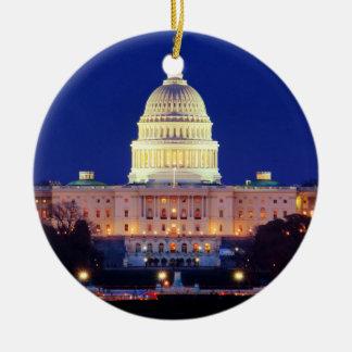 Huvudstad för Washington DC United States på Julgransprydnad Keramik