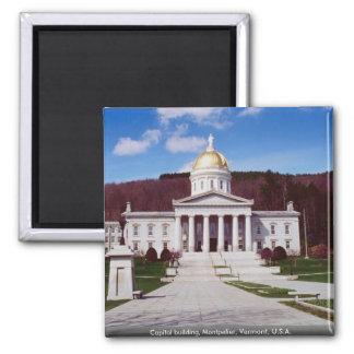 Huvudstadbyggnad, Montpelier, Vermont, USA Magnet
