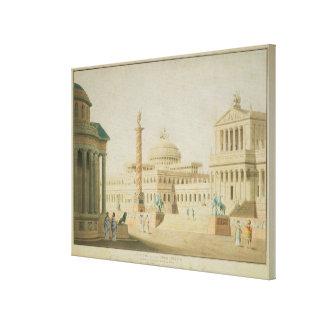 Huvudstaden, fastställd design för 'Titus Canvastryck