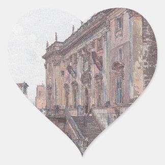 Huvudstaden i Rome av Rudolf von Alt Hjärtformat Klistermärke