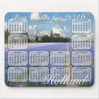 Hyacint blommar kalendern för fält 2016 mus mattor