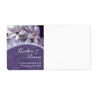 Hyacintet blommar sändnings fraktsedel