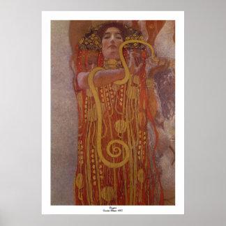 Hygeia av Gustav Klimt Poster