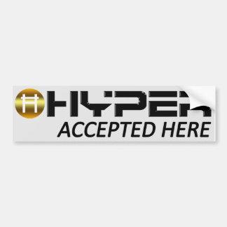 Hyper accepterad här bildekal