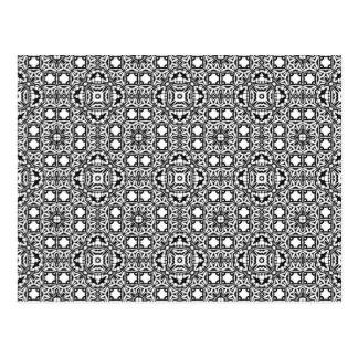 Hypnotisk bakgrund för svart & för vit vykort