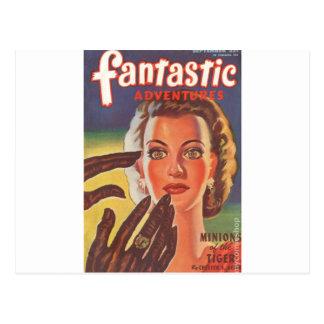 Hypnotisk brunett vykort