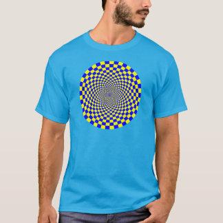 Hypnotisk optisk illusion tee shirts