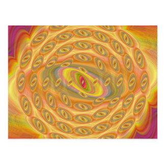 Hypnotiska ögon av solen vykort