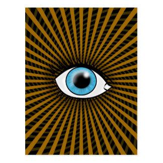 Hypnotiskt blåttöga vykort