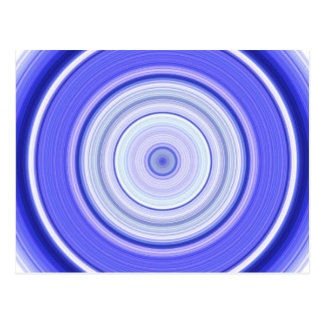Hypnotiskt cirkla blåttvit vykort