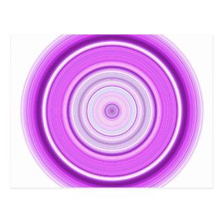 Hypnotiskt cirkla lilor vykort