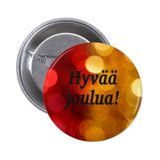 Hyvää joulua! God jul i finskabf Knapp Med Nål