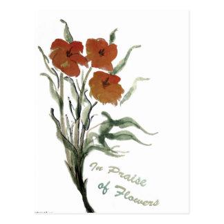 I beröm av blommor vykort
