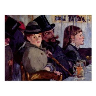 I cafen: Från kabareten Reichshoffen - Manet Vykort