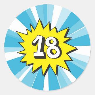 i dag gåva 18 runt klistermärke