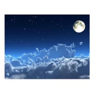 I den bleka månskenvykortet vykort