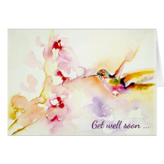 """""""I den rosa"""" hummingbirden få väl Hälsningskort"""