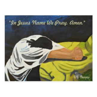 I det Jesus namn ber vi, Amen! Vykort