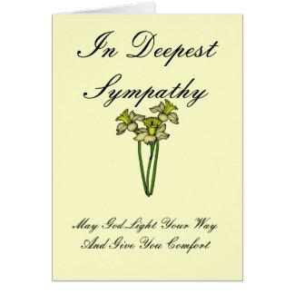 I djupast sympati hälsningskort