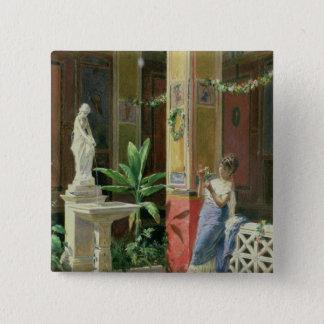 I en borggård i Pompeii 1878 Standard Kanpp Fyrkantig 5.1 Cm