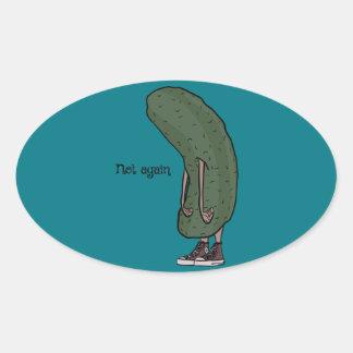 I en knipa ovalt klistermärke