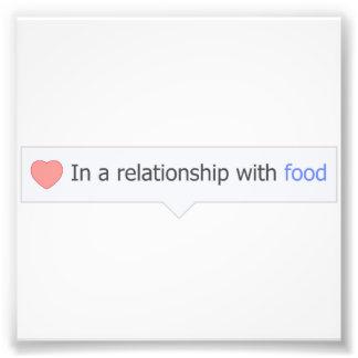 I ett förhållande med mat fotografiska tryck