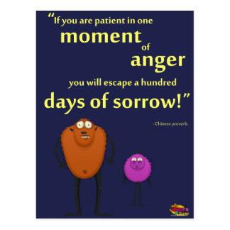 I ett ögonblick av ilska - Motivational monster Vykort