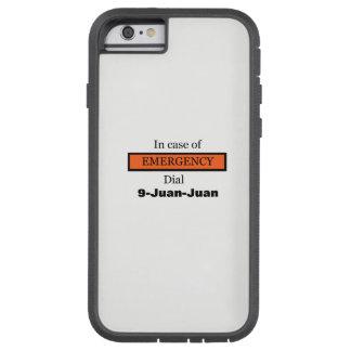 I fall att av den NÖD- visartavlan 9-Juan-Juan Tough Xtreme iPhone 6 Case