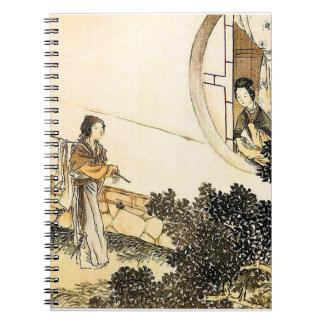 I gammala Japan Anteckningsbok Med Spiral
