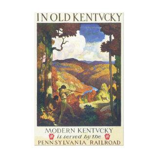 I gammalt konstverk för Kentucky vintage Canvastryck