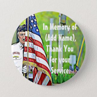 I heder av din tjänste- militär knäppas mellanstor knapp rund 7.6 cm