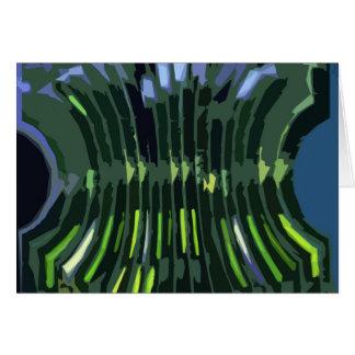 I lagra gröna stenbildande - konstnärligt arbete hälsningskort