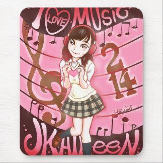 I LOVE MUSIC JK AILEEN 214 ~マウスパッド~ MUSMATTA